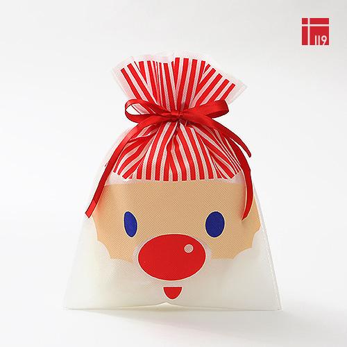 크리스마스 부직포백(파란눈 산타) /10매