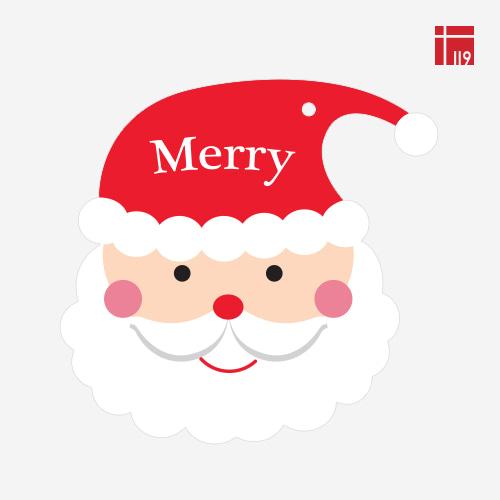 크리스마스 Merry 산타얼굴 택/ 30매